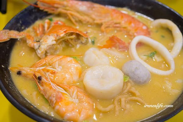 特色湯頭鍋燒麵,螃蟹、干貝、天使紅蝦吃到痛風的鍋燒美食.痛痛鍋燒