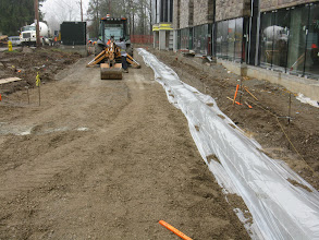 Photo: Brescia  Concrete curb laid in front of Marche' south wing April 29.13