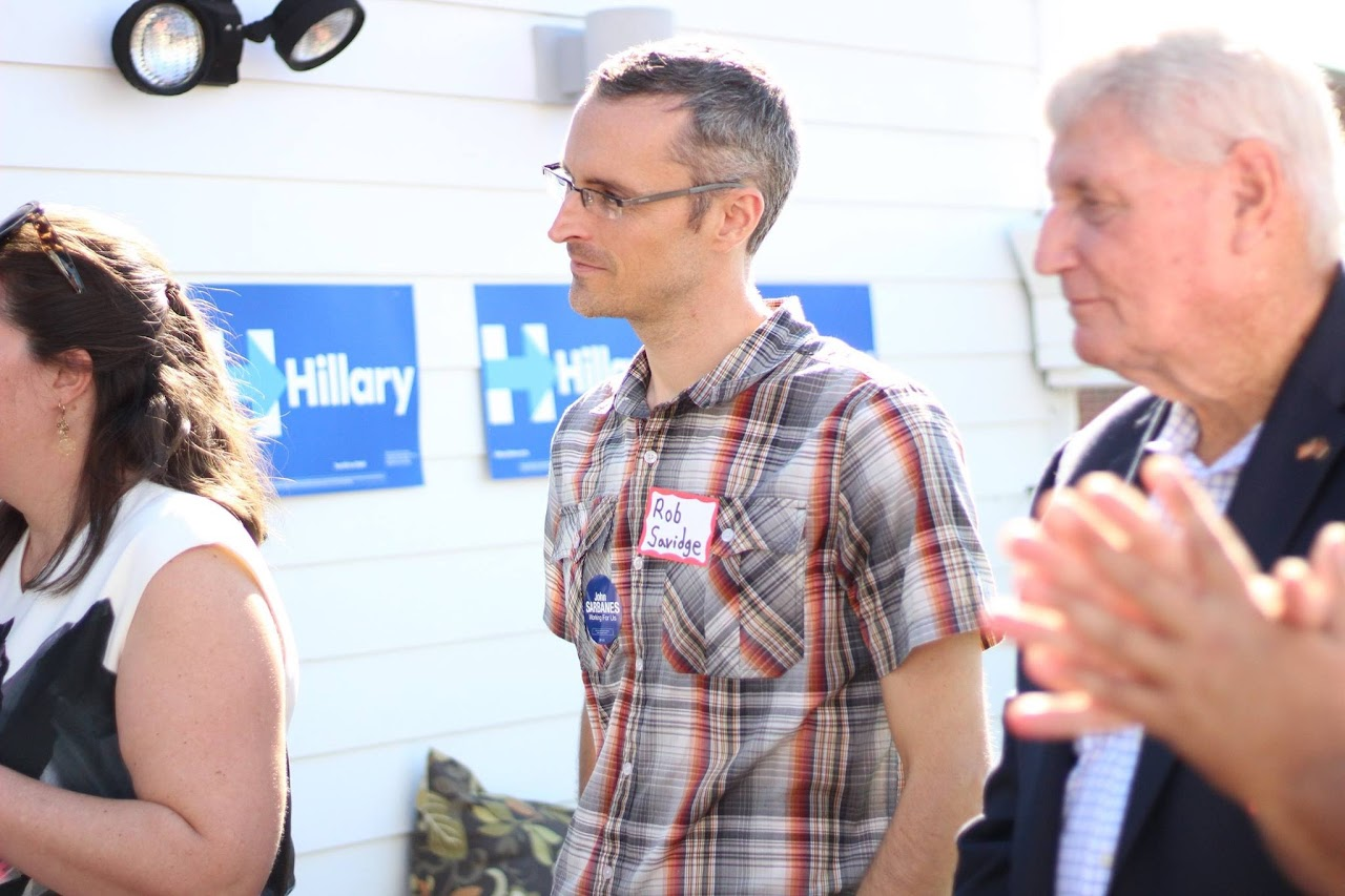 rob at hillary event