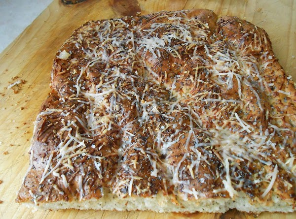 Bake 400° for 22-25 min.  Once you remove bread from oven sprinkle a...
