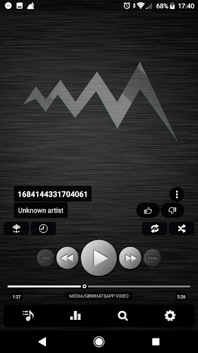 Screenshot for Poweramp v3 skin simple dark in United States Play Store