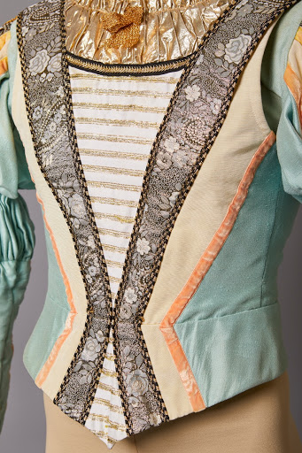 Detail of costume for Neopolitan Cavalier in Anne Woolliam's Swan Lake