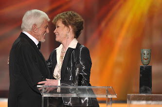 Photo: LOS ANGELES, CA - JANUARY 29:  Actors Dick Van Dyke and Mary Tyler Moore speak onstage during The 18th Annual Screen Actors Guild Awards broadcast on TNT/TBS at The Shrine Auditorium on January 29, 2012 in Los Angeles, California. (Photo by John Shearer/WireImage) 22005_009_JS_0455.JPG *** Local Caption *** Dick Van Dyke;Mary Tyler Moore
