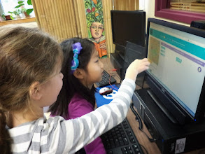 Photo: Orchard School third graders learn to use code