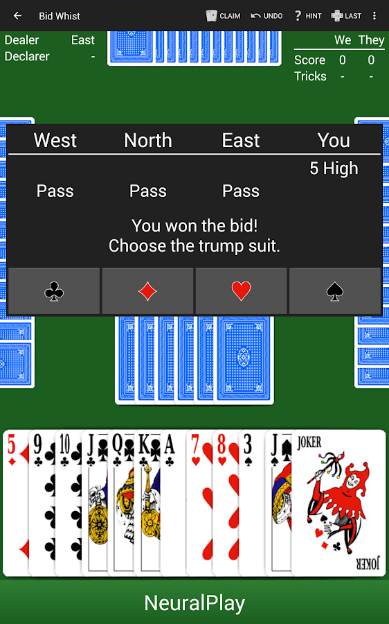 Bid Whist by NeuralPlay- screenshot