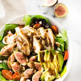 End Of Summer Salad With Fig Balsamic Vinaigrette