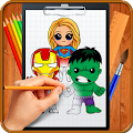 Learn How to Draw Chibi Super Heroes download