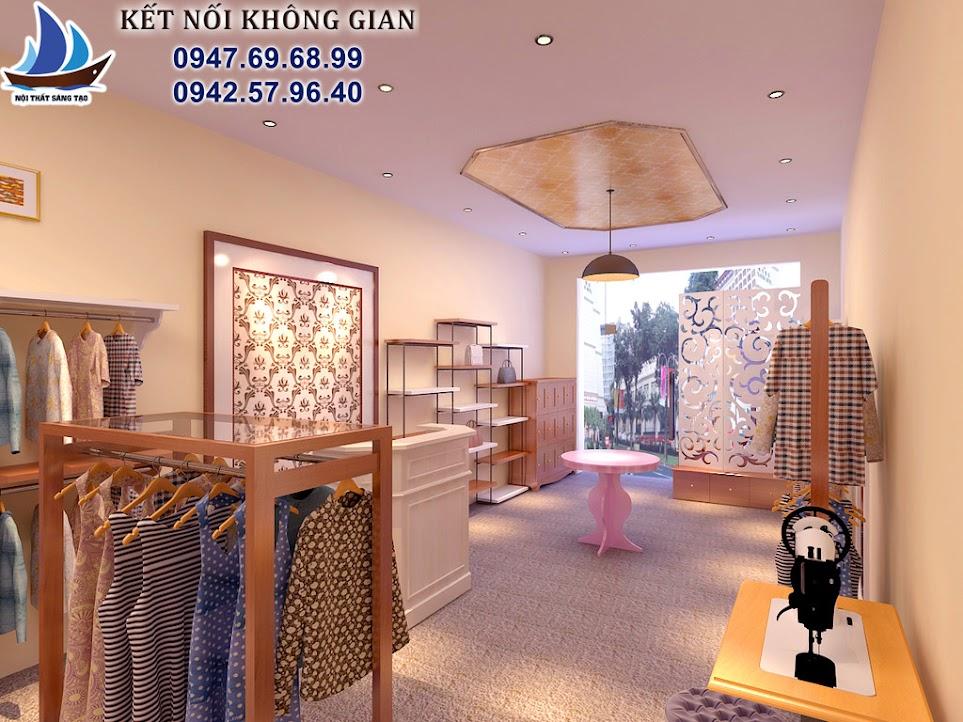 thiết kế cửa hàng thời trang nữ nhỏ