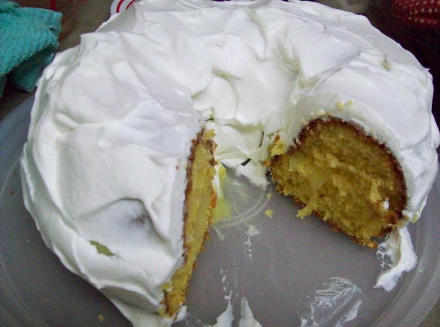Just A Pinch Lemon Cake  Box Yellow Cake