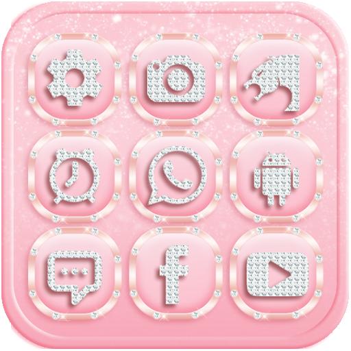 娱乐のローズゴールドダイヤモンドのテーマ LOGO-HotApp4Game