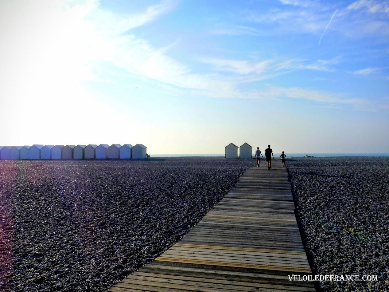 Les planches de la plage de Cayeux-sur-Mer  - Blog Les Balades à vélo autour de La Baie de Somme par veloiledefrance.com