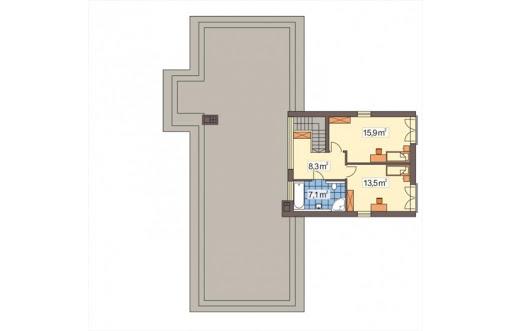 Mango wersja A - Rzut piętra
