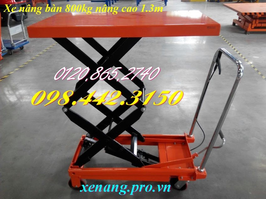 Xe nâng bàn 800kg nâng cao 1300mm WP800/1.3M