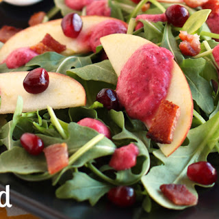 Arugula, Apple & Bacon Salad with Cranberry Vinaigrette