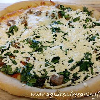 Gluten Free Dairy Free Pizza.