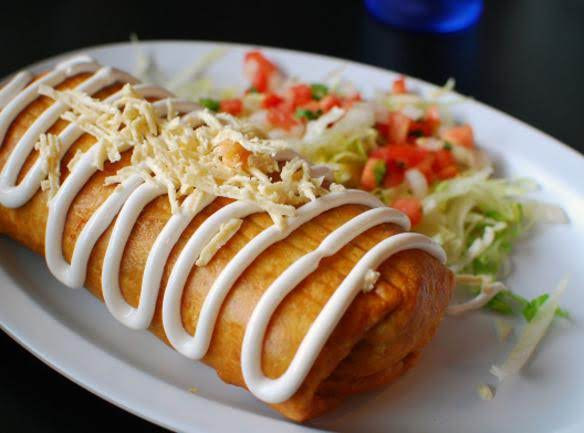 Fried Ground Beef Chimichangas
