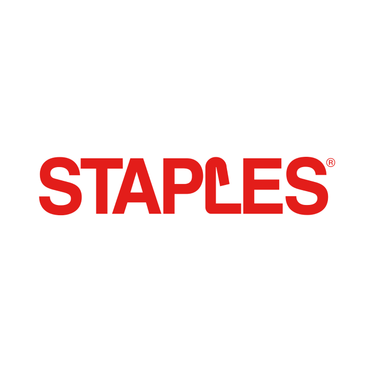 Staples store locator on a map on a laptop