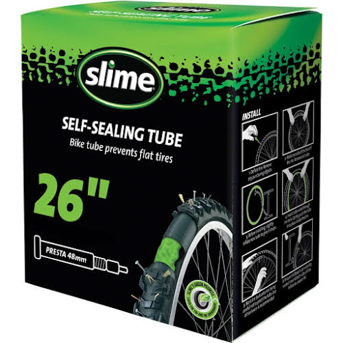 """Slime Self-Sealing Tube 26"""" x 1.75-2.125"""", 48mm Presta Valve"""