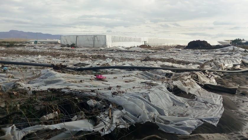 El paso de la DANA por la provincia de Almería dejó imágenes desoladoras por los destrozos ocasionados