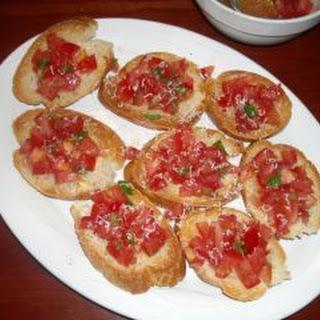 Italian Sausage Stuffed Peppers And Bruschetta Al Pomodoro Recipes.