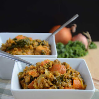 Lentil, Sweet Potato and Kale Stew (Vegan, GF)