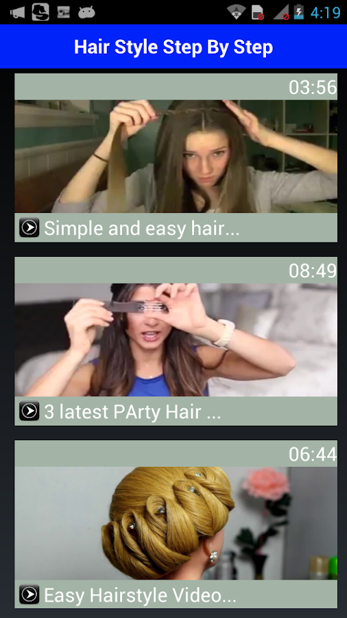 Girls Hair Styles Videos Android Apps On Google Play - Hairstyle steal your girl