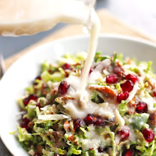 Chopped Brussels Sprout Salad with Creamy Shallot Dressing