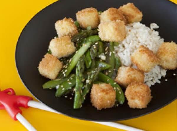 Crispy Tofu With Veggie Stir-fry