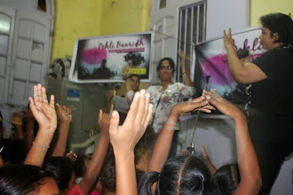 Photo: The first pouring at Prerana: Clapping along to the beat