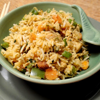 Mixed Fried Rice minus any soy sauce.