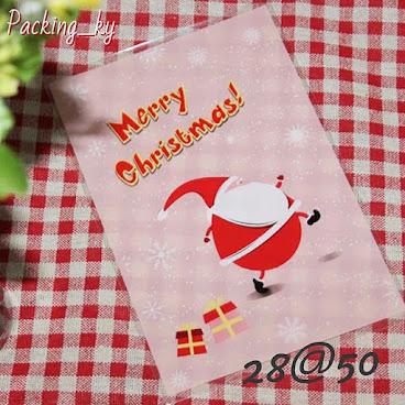 💕雪花聖誕老人包裝平口袋