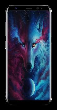 Dark Night Magic Wolf Wallpapers HD Poster