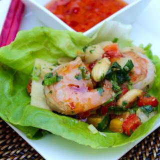 Asian Shrimp Lettuce Wraps.