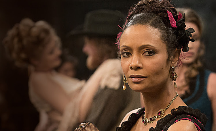 Thandie Newton in the hit drama series Westworld.