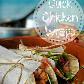 Quick Cheesy Chicken Wraps with Onion Tomato Salad