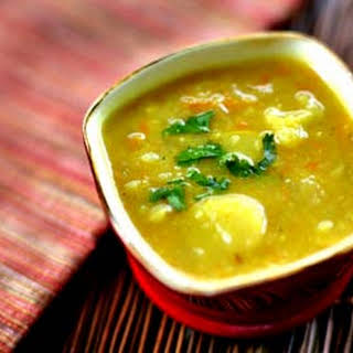 Curried Potato and Vegetable Soup.