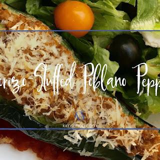 Chorizo-stuffed Poblano Peppers.