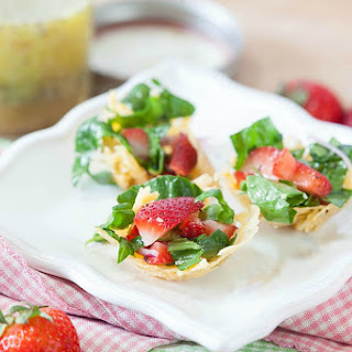 Strawberry Poppyseed Salad in Gouda Bowls (Low Carb, Gluten Free)