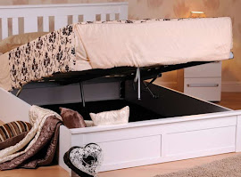Open Wooden Ottoman Storage Bed