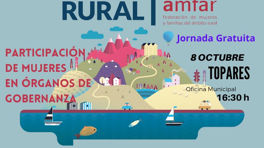 Cartel sobre la jornada organizada en Topares.