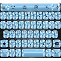 MetalBlue Emoji Teclado icon