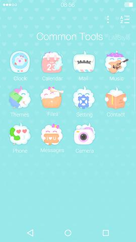 android CandyFloss : DU Launcher Theme Screenshot 2