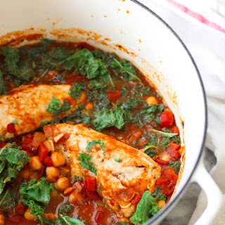 Chipotle Chicken Stew with Chickpeas and Kale.