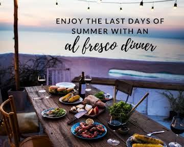 Enjoy the Last Days of Summer With an Al Fresco Dinner