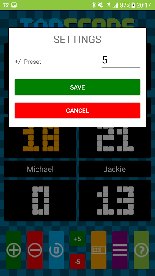 TapScore Game Scorekeeper- screenshot