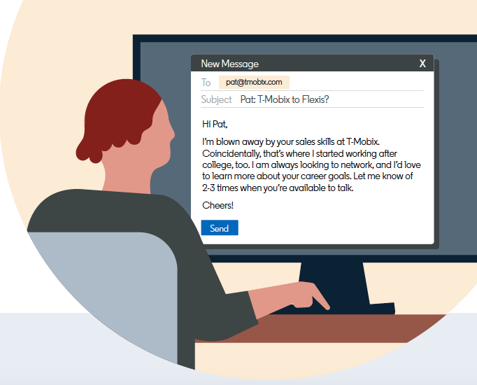 Keep your first message short – it saves time and boosts response rates. Source: LinkedIn