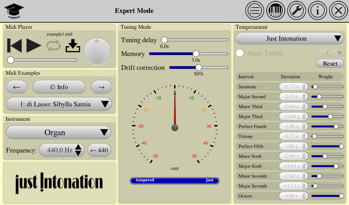 Just Intonation- screenshot