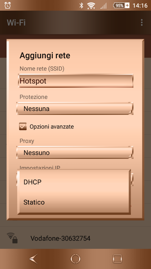 Shiny Copper Theme for Xperia- screenshot