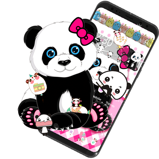 Panda Cartoon Sweet Theme