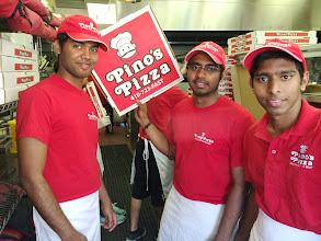 Photo: Three great crew members from Sri Lanka! Lt to right is Kanishka, Kusal, and Kavinga.